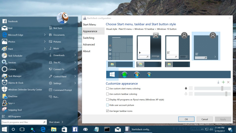 Startisback real start menu for windows 8 and windows 10 reinvigorated for new windows ccuart Images